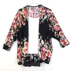 Gorgeous Floral and Black Cardigain